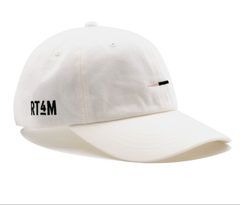 RT4M White Bar Logo Dad Hat