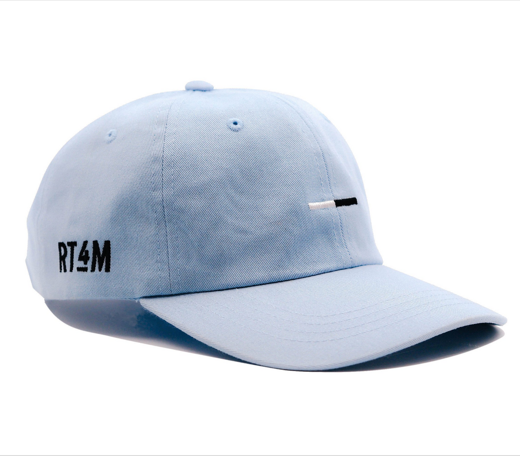 RT4M Light Blue Bar Logo Dad Hat