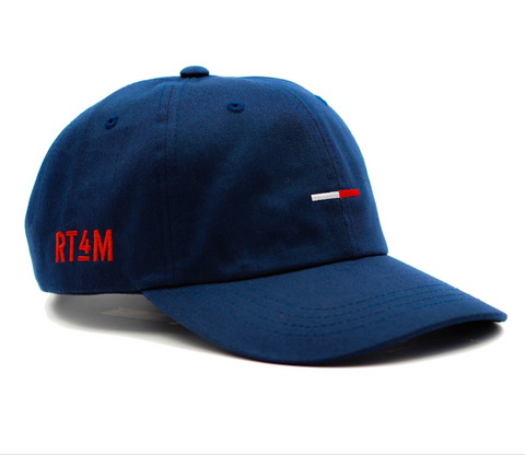 RT4M Navy Bar Logo Dad Hat