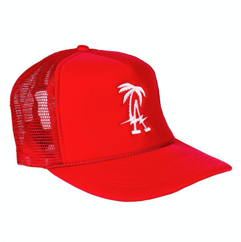 LA Red Trucker Hat