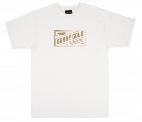 Benny Gold Classic Stamp Tee White/Gold