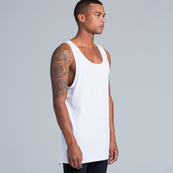 Ascolour Men's Basic White Tank Top