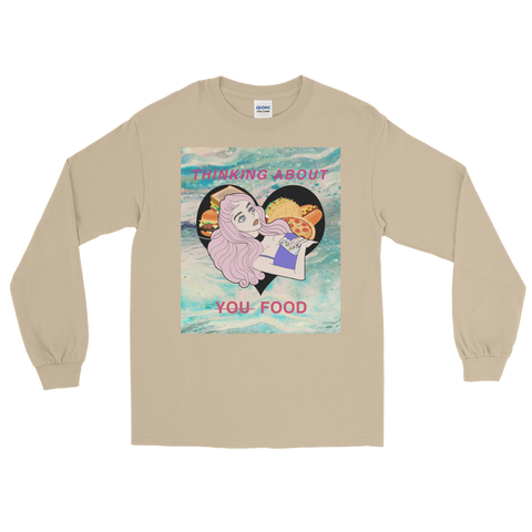 Peach Brain Thinking About Food Longsleeve