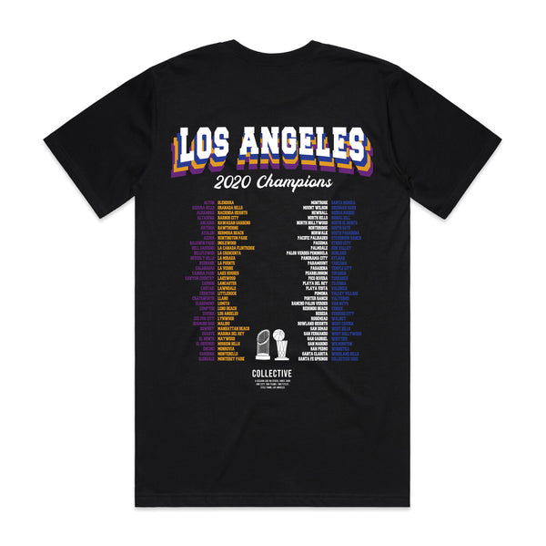 2 Titles - Lakers x Dodgers 2020 Championship T-Shirt - Black All Over