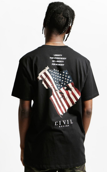 Civil Regime Resist Flag Tee