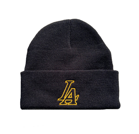 LA Champs Midnight Black Beanie