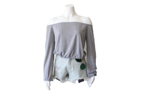 Women's H. Grey Basic Knit Crewneck