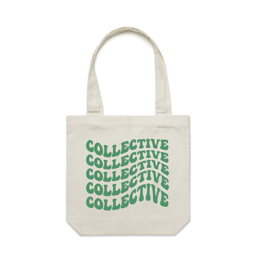 Collective 4/20 Green & Cream Tote Bag
