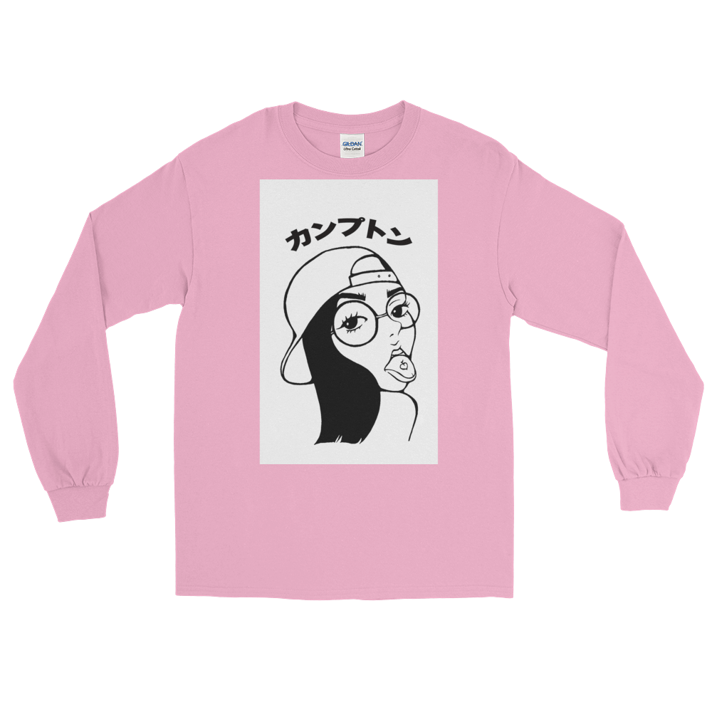 "Peach Brain ""Compton"" in Japanese Longsleeve"