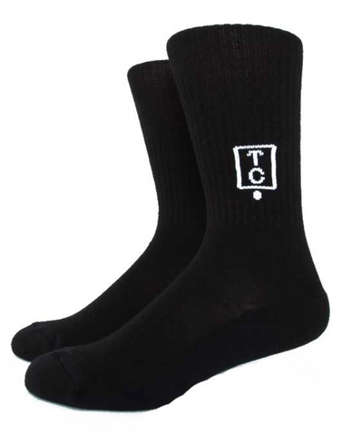 Team Cozy Black Logo Socks