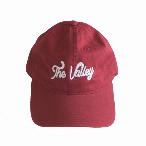 The Valley Dad Hat in Cardinal