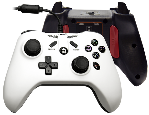 Tier 1 PS3 PC Android Controller - Alpine White Cord