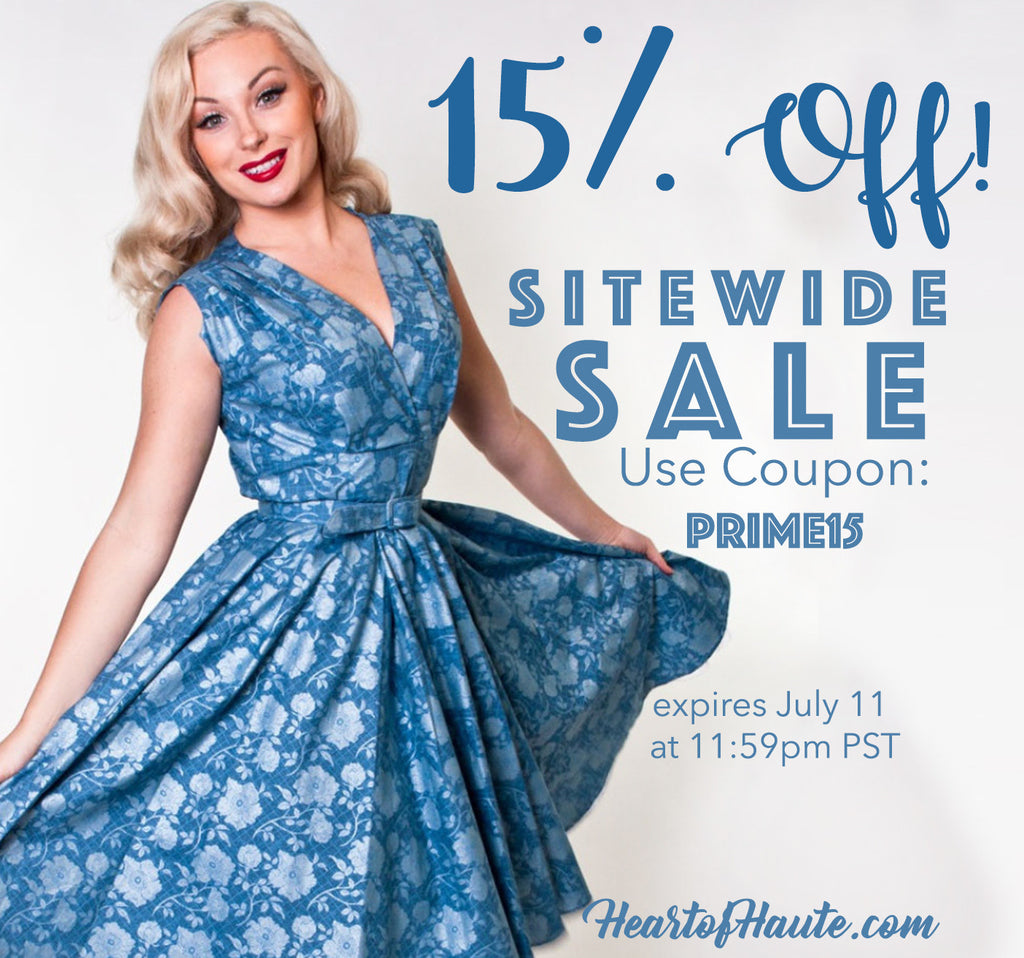 15% off Sitewide at Heart of Haute! July 10 & 11 only