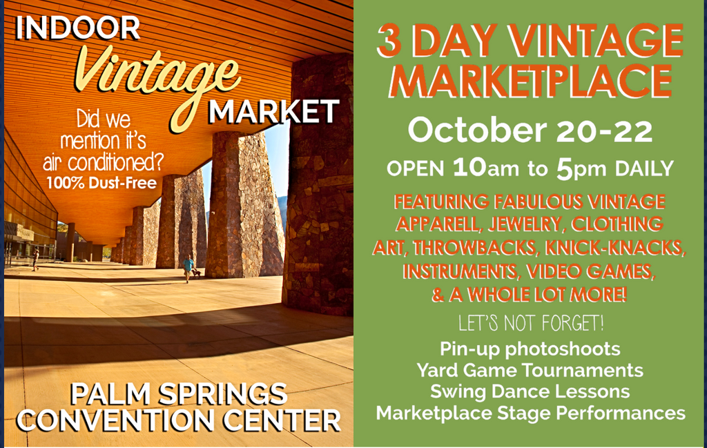 Vintage Vibe Festival in Palm Springs:  Shop Heart of Haute via MyBabyJo.com