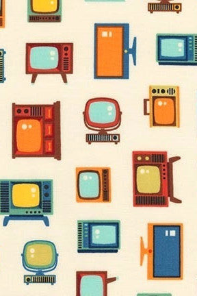 Vintage TVs are sexy....New Retro Console Print!