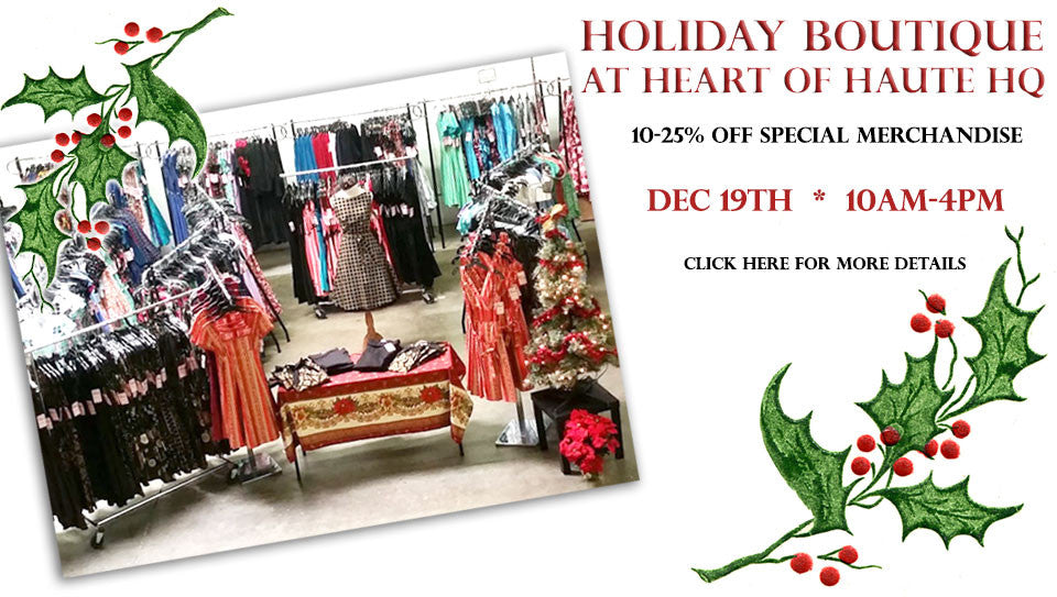 Heart of Haute's Holiday Boutique Saturday, December 19th, 2015