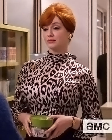 Joan Mad Men leopard print blouse