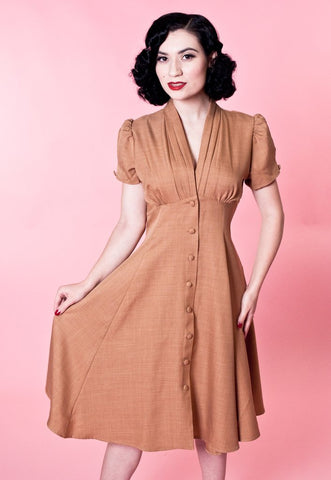 The Manhattan Dress in Caramel | Heart of Haute