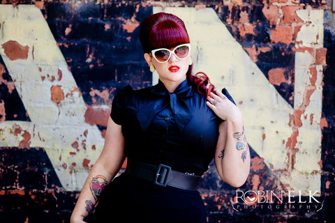 pinup bow blouse from Heart of Haute