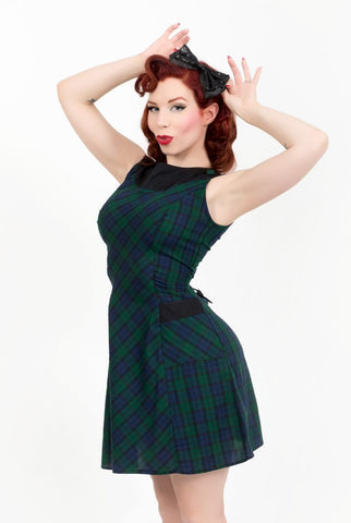 The Doreen Dress in Watch Plaid | Mandie Bee
