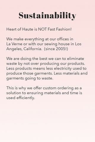 Heart of Haute | Sustainable Fashion Business in California
