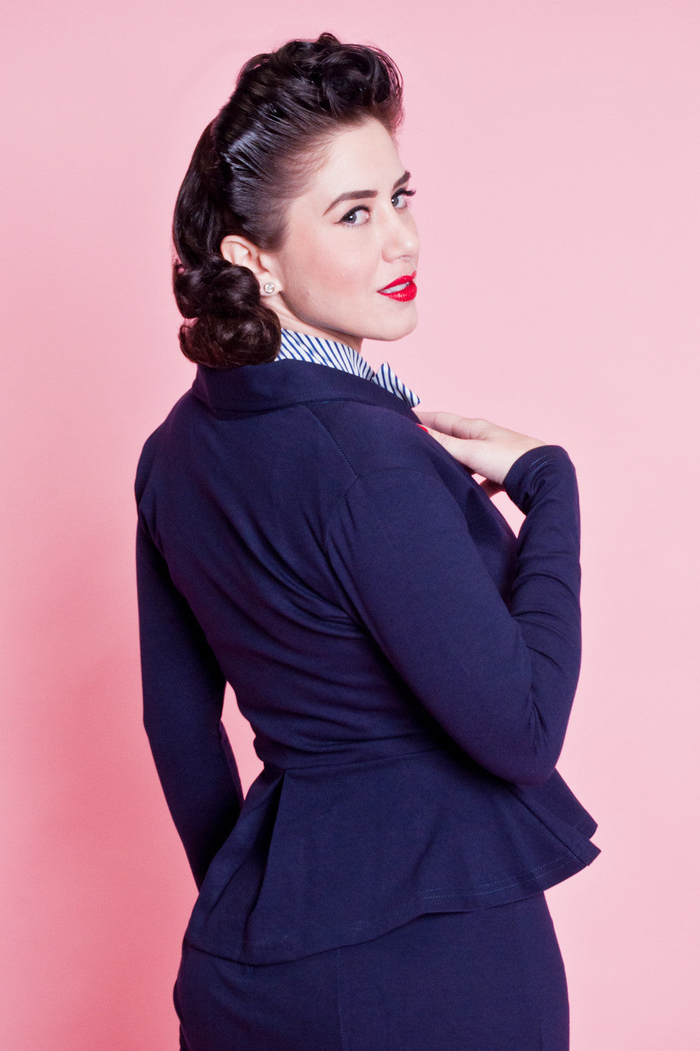 Diva Jacket - Navy - Heart of Haute