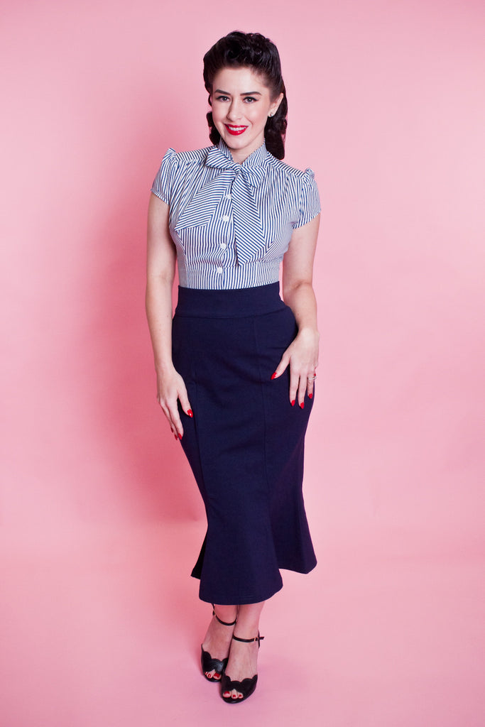 Diva Skirt - Navy - Heart of Haute