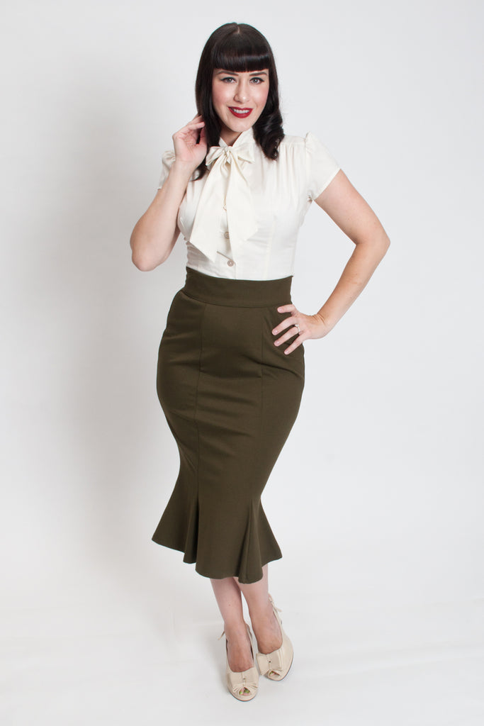 Diva Skirt - Olive - Heart of Haute