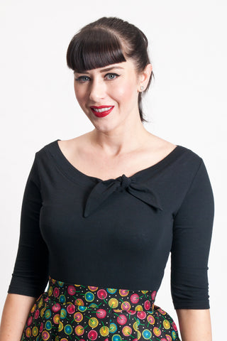 Lily Top - Black - Heart of Haute