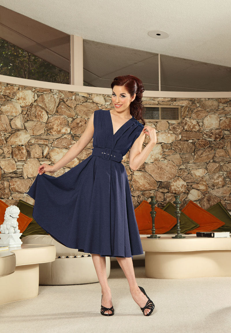 Milan Dress - Jet Setter Navy - Heart of Haute