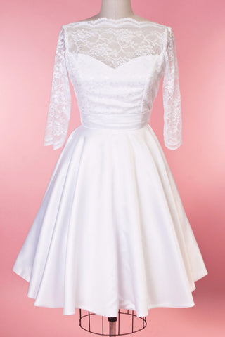 Weddings - Collette Dress - White Lace - Heart of Haute