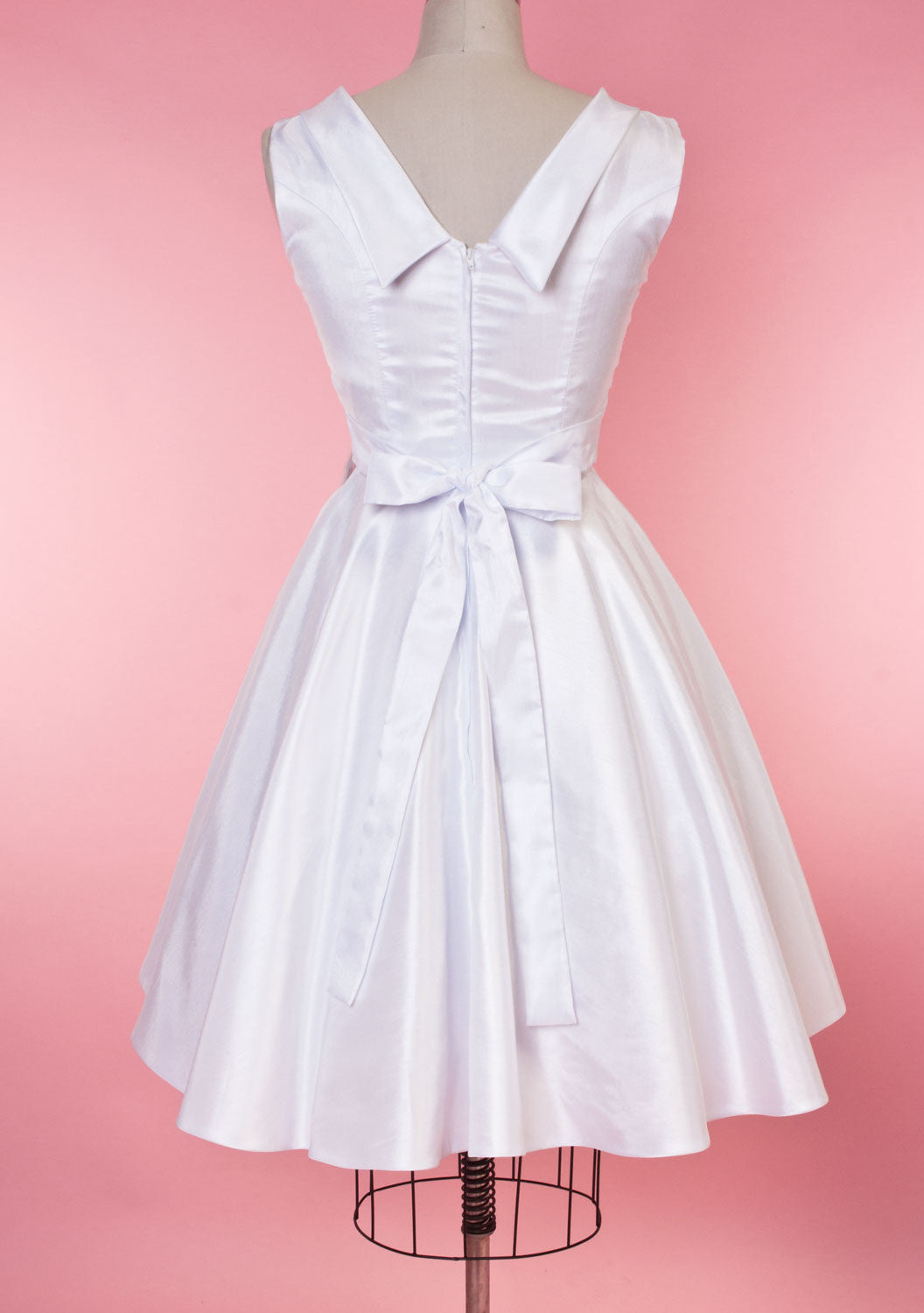BP Suzette Dress - White Shantung - Heart of Haute  - 6