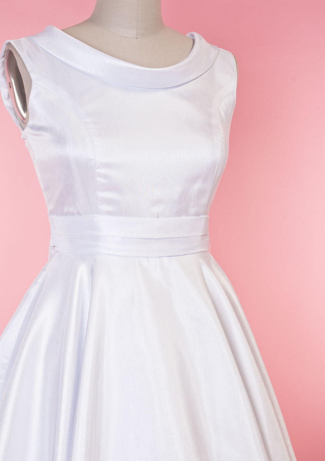 BP Suzette Dress - White Shantung - Heart of Haute  - 5
