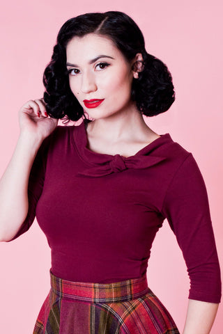 Lily Top - Burgundy - Heart of Haute  - 2