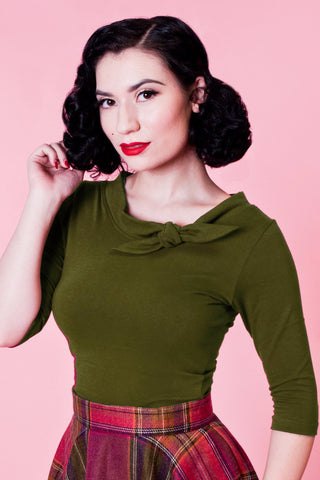 Lily Top - Olive - Heart of Haute