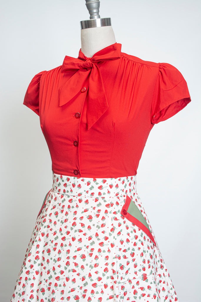 Estelle Blouse - Red
