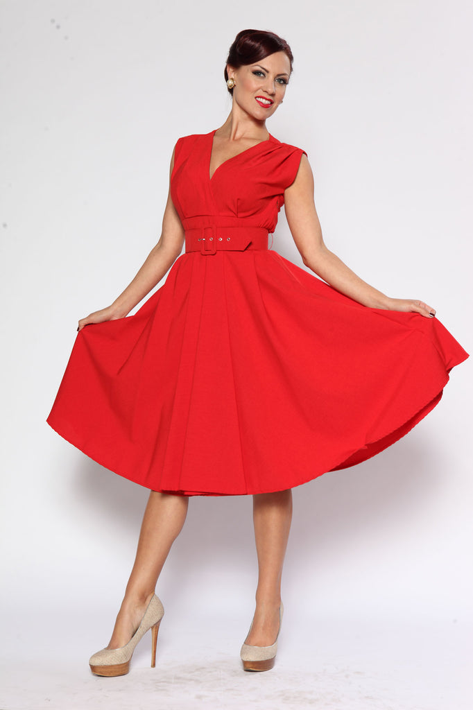 Milan Dress - Jet Setter Red - Heart of Haute