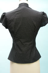 Estelle Blouse - Polka Dot Black - Heart of Haute