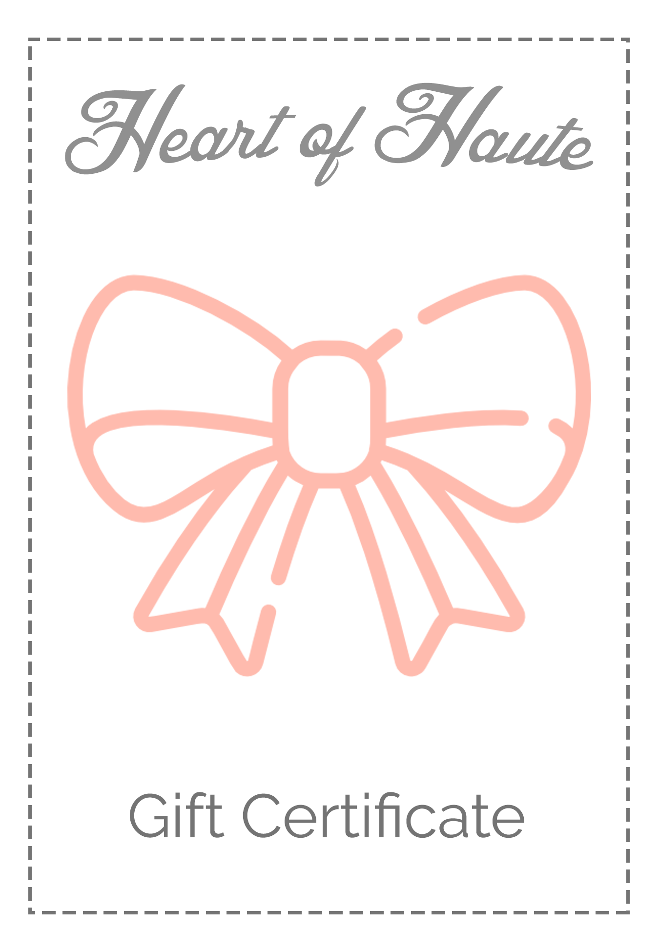 Heart of Haute Gift Card - Heart of Haute