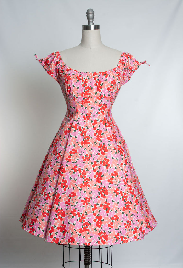 Hilda Dress - Retro Cherry, Blush