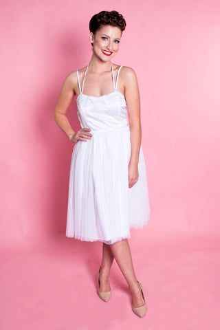 BP Pirouette Dress - White Tulle - Heart of Haute  - 1