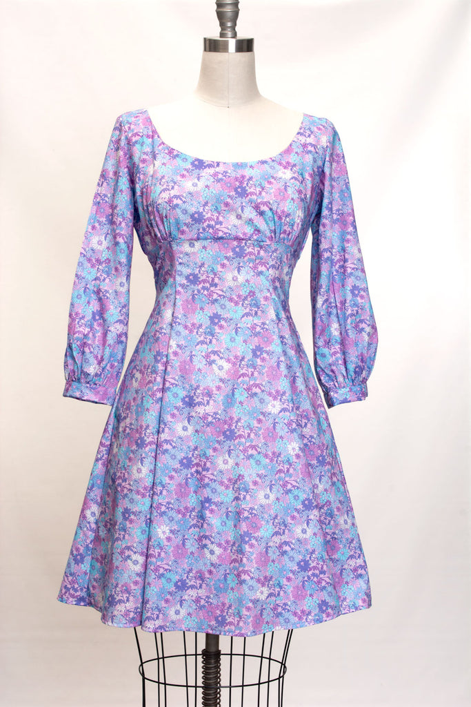 Jenni Dress- Abby Floral, Purple