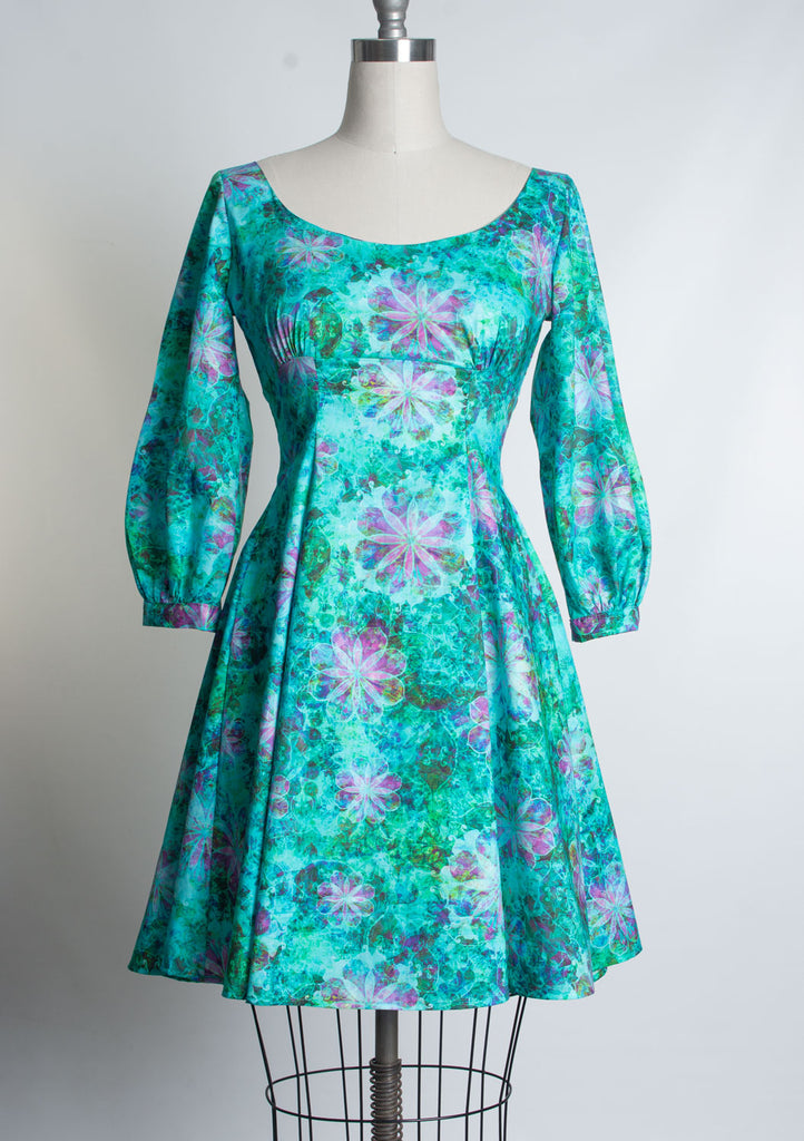 Jenni Dress- Goddess Garden, Green
