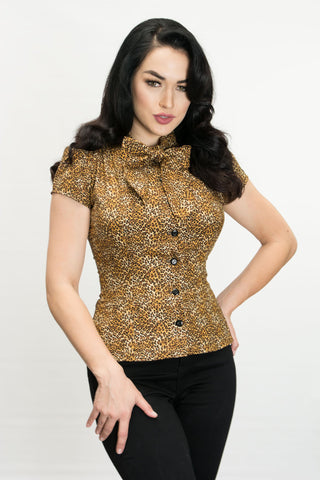 Estelle Blouse - Mini Leopard - Heart of Haute
