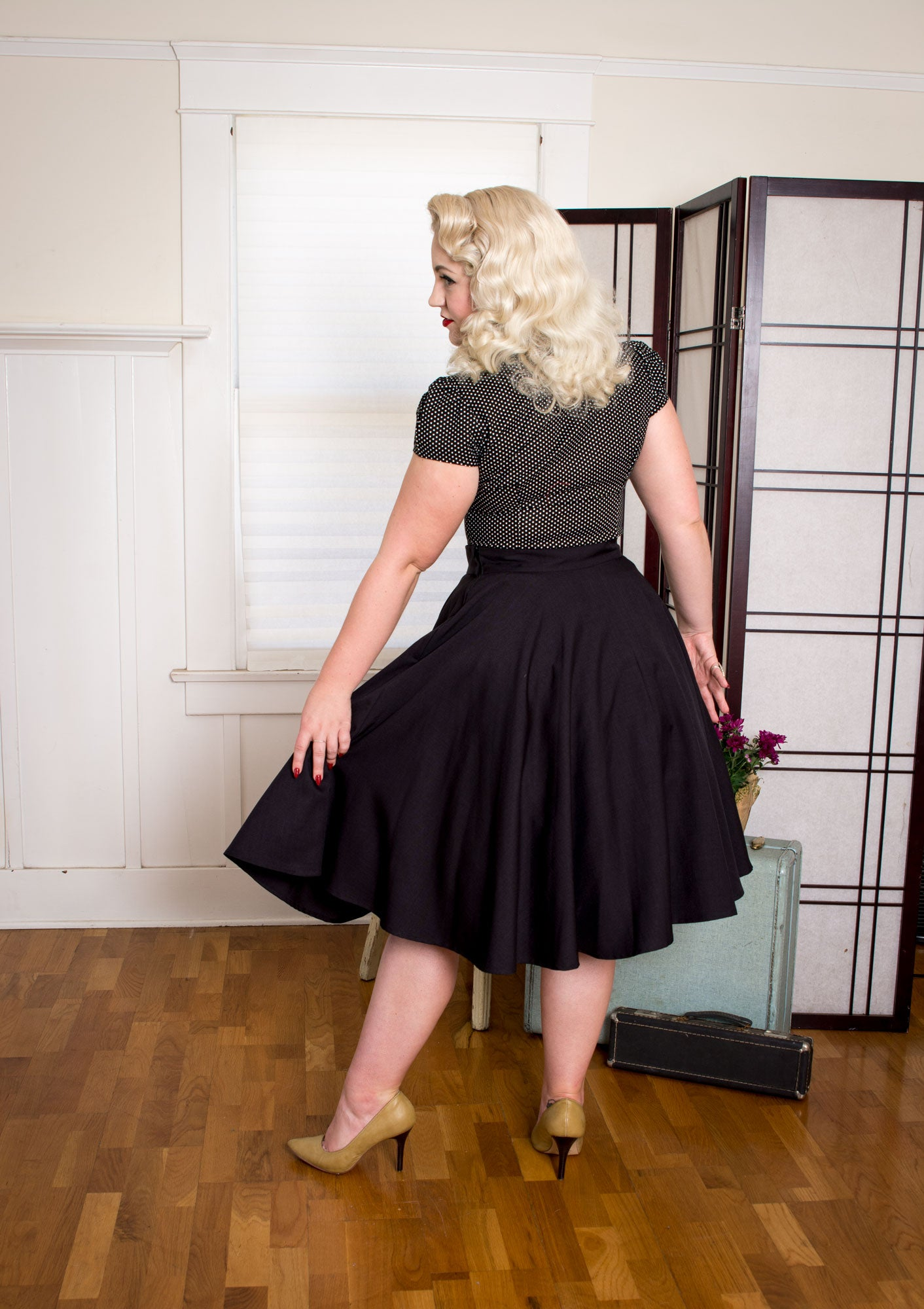 Haute Circle Skirt - Go Getter Black - Heart of Haute