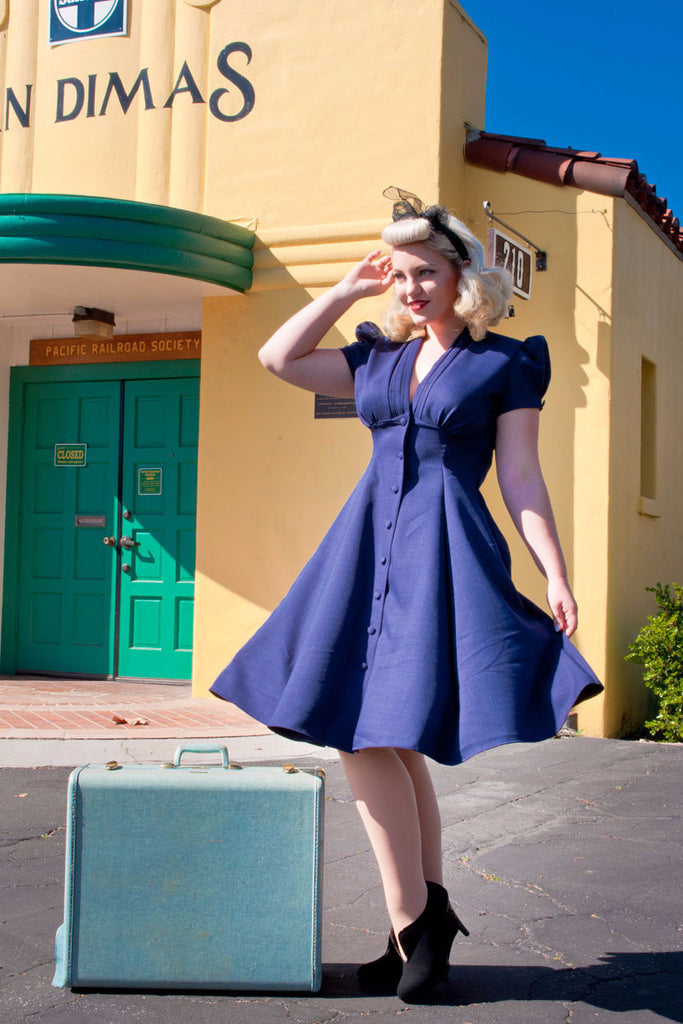 Manhattan Dress - Navy - Heart of Haute