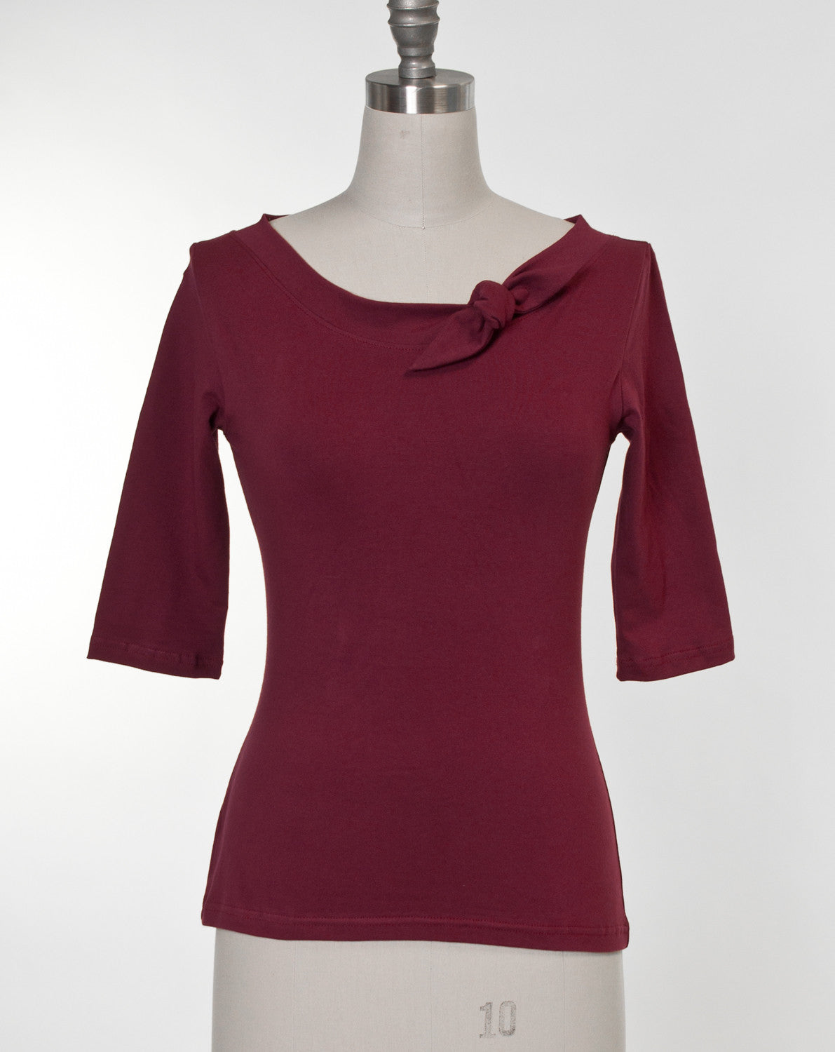 Lily Top - Burgundy - Heart of Haute