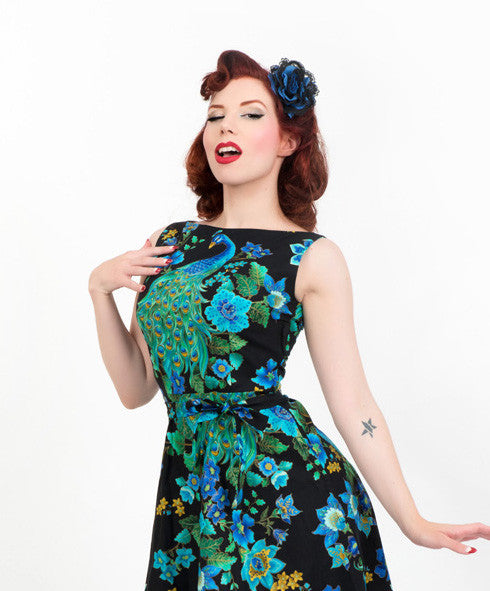 Monique Dress - Peacock Royale - sold out until April - Heart of Haute  - 4
