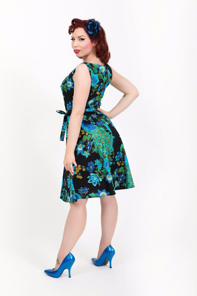Monique Dress - Peacock Royale - sold out until April - Heart of Haute  - 2