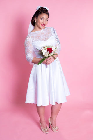 BP Collette Dress - White Lace - Heart of Haute  - 7